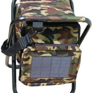 SunPlug Solar Charger Fishing Stool and Bag