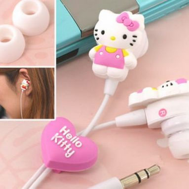 Hello Kitty & My Melody Rubber Stereo Earphones