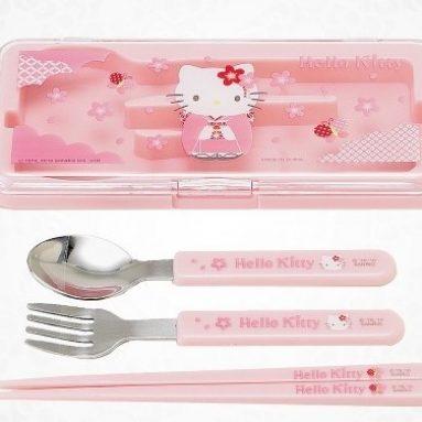 Hello Kitty 3-Piece Cutlery Set In Case