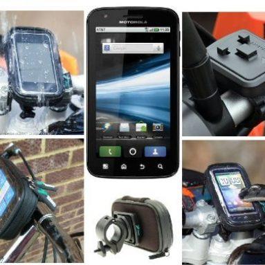 Bike Handlebar Mount with Waterproof Case fits the Motorola ATRIX Mobile Phone