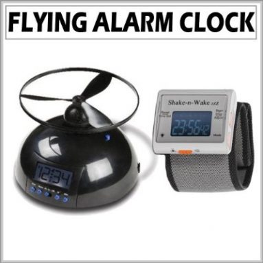 Flying Alarm Clock with Vibrating Silent Alarm Watch