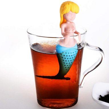Funny Slicone Tea Infusers Mermaid Loose Leaf Tea