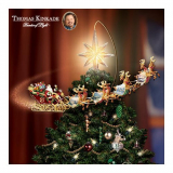 Holidays in Motion Rotating Illuminated Treetopper