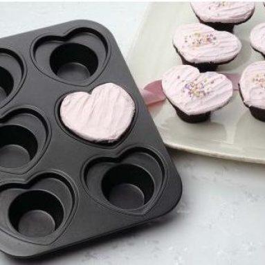 Cup Heart Cupcake Pan