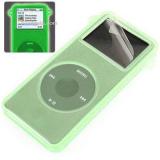 Eforcity Glow-In-Dark Green Skin case for iPod nano