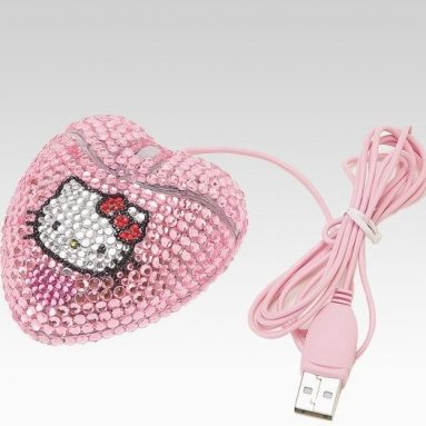 Hello Kitty Optical Mouse: Bling Pink