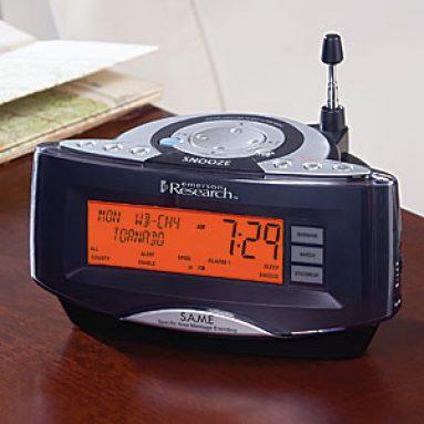 SmartSet Weather Alarm Clock with AM-FM Radio