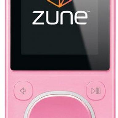 Zune 4 GB Digital Media Player Pink