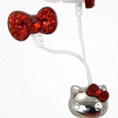 Hello Kitty Red Bow Earbud Headphones