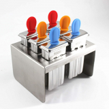 Ecozoi Mini Stainless Steel Ice Popsicle Molds and Rack