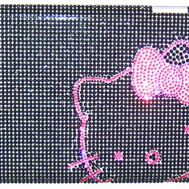 Black and pink Diamond Hard case for apple ipad2