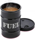 Fuel Drum Shaped Cold Coffee Mug With Silicone Lid
