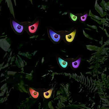 Twinkle Star Halloween Decorations Flashing Eyes String Lights