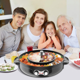 Electric Smokeless Grill and Hot Pot