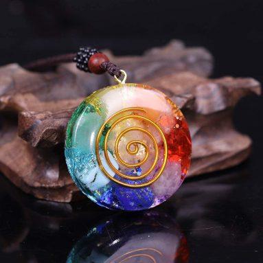 Reiki Necklace for Women Chakra Orgonite Energy Pendant