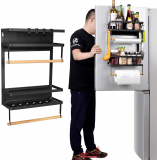 Refrigerator Spice Storage Shelf – Magnetic Fridge Spice Rack Organizer