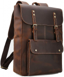 Laptop Messenger Bag Vintage Leather Men's Backpack