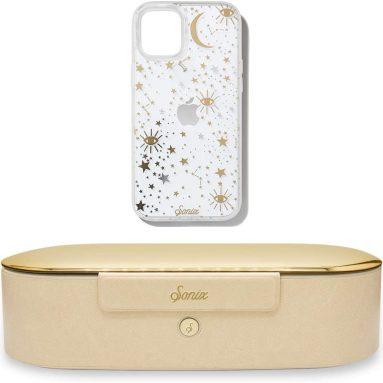 Sonix Cosmic Stars Case + UV+O3 Sanitizer Box (Gold), Case for iPhone 12 Pro Max