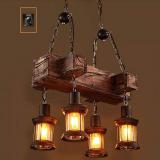 Industrial Vintage Wooden Hanging Pendant Light