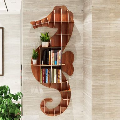Wooden Seahorse Wall