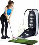 Golf Chipping Net Indoor Backyard Home 2 Target and Ball Swing Training Aids