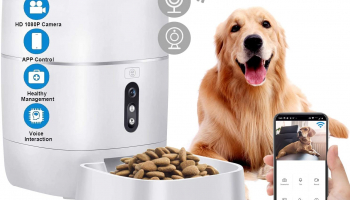 Camera WiFi Smart Feeder 6L Automatic Cat and dog Feeder