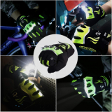 LED Flashlight Gloves Touch Screen Rechargeable 3 LED Modes Bright Torch