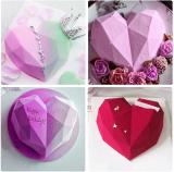 Diamond Heart Love Shape Silicone Cake Mold