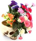 Modern Resin Skull Shaped Head Design Flower Pot Planter Container