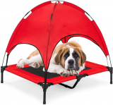 Elevated Dog Cot with Canopy Shade