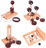 Classic Wooden Rope Puzzle Set