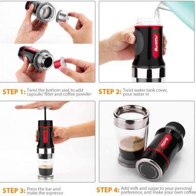 Portable Small Coffee Maker Barsetto Espresso Coffee Machine