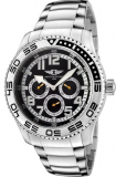 Invicta Men's Black Dial Stainless Steel Watch