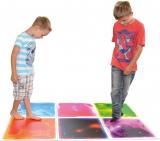 Sensory Room Tile Multi-Color Exercise Mat Liquid Encased Floor Playmat