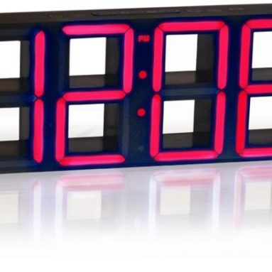 Fascinations Time Squared LED Clock