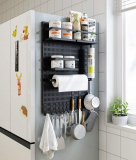 Magnetic Spice Rack Refrigerator Storage Organizer Shelf