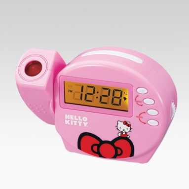 Hello Kitty Projection Alarm Clock With FM Radio