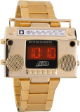 Boombox Gold Retro LED Digital Watch