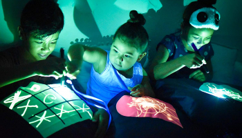 Illuminated Apparel Glow Sketch Interactive Glow in The Dark Pillowcase