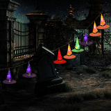 Halloween Decorations Witch Hat String Lights