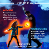 Starlux Games Wizards & Werewolves: an Active Outdoor Group Game with Hide and Seek