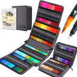 120 Colors Dual Tip Brush Pens Fineliners Art Markers