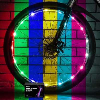 LED Bike Wheel Lights with USB Rechargeable Battery
