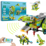 100 in 1 Robot Building Kits for Kids, Scratch STEM Educational Coding Remote Controlled Toys