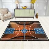 Basketball Print Court Sport Area Rug Rugs