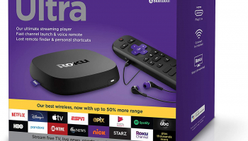 Roku Ultra 2020 | Streaming Media Player HD/4K/HDR/Dolby Vision with Dolby Atmos, Bluetooth, and Roku Voice Remote