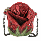 Rose Beaded Shoulder Handbag