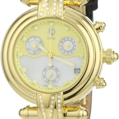 Brillier Women's Klassique Round Stainless Steel Chronograph Watch