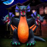 Inflatable Halloween 3-Headed Dragon Yard Decoration