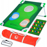 GoSports BattleChip Backyard Golf Cornhole Game | Fun New Golf Game for All Ages & Abilities